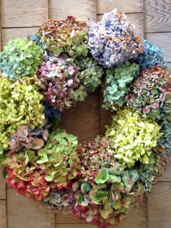 Tips for making a hydrangea wreath